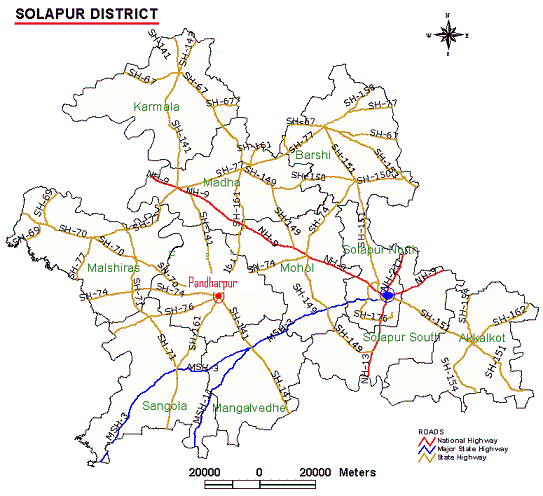 Solapur District Map